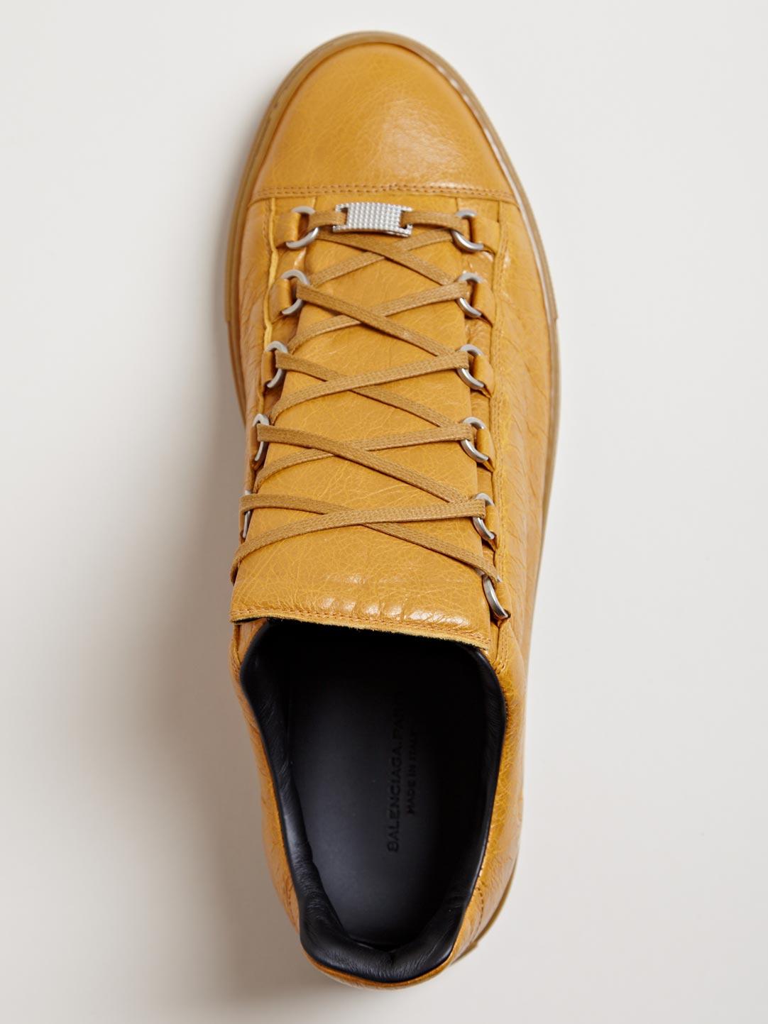 Caramel Balenciaga Arena Luxury Sneakers 3
