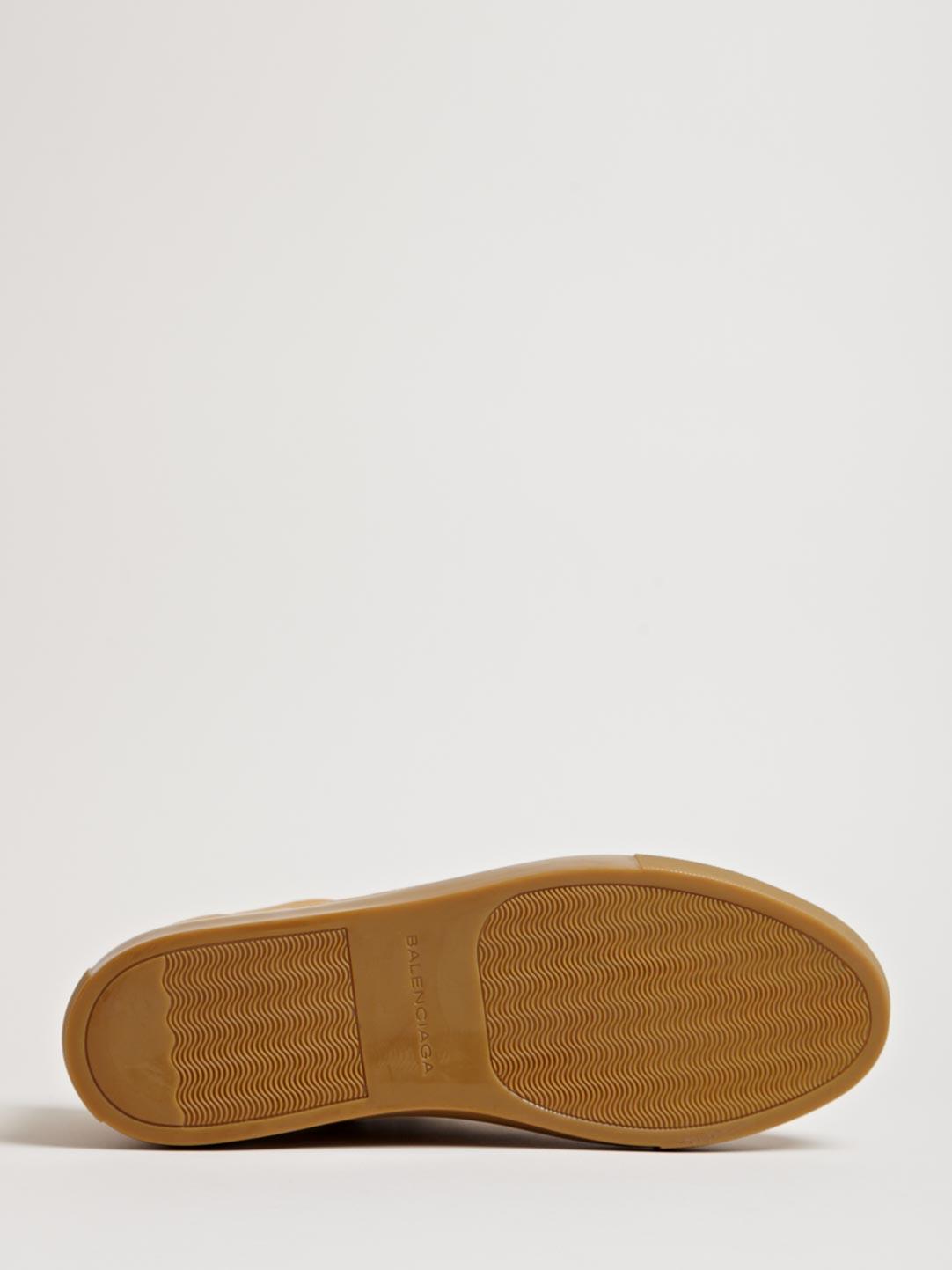 Caramel Balenciaga Arena Luxury Sneakers 4