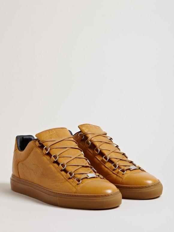 Caramel Balenciaga Arena Luxury Sneakers