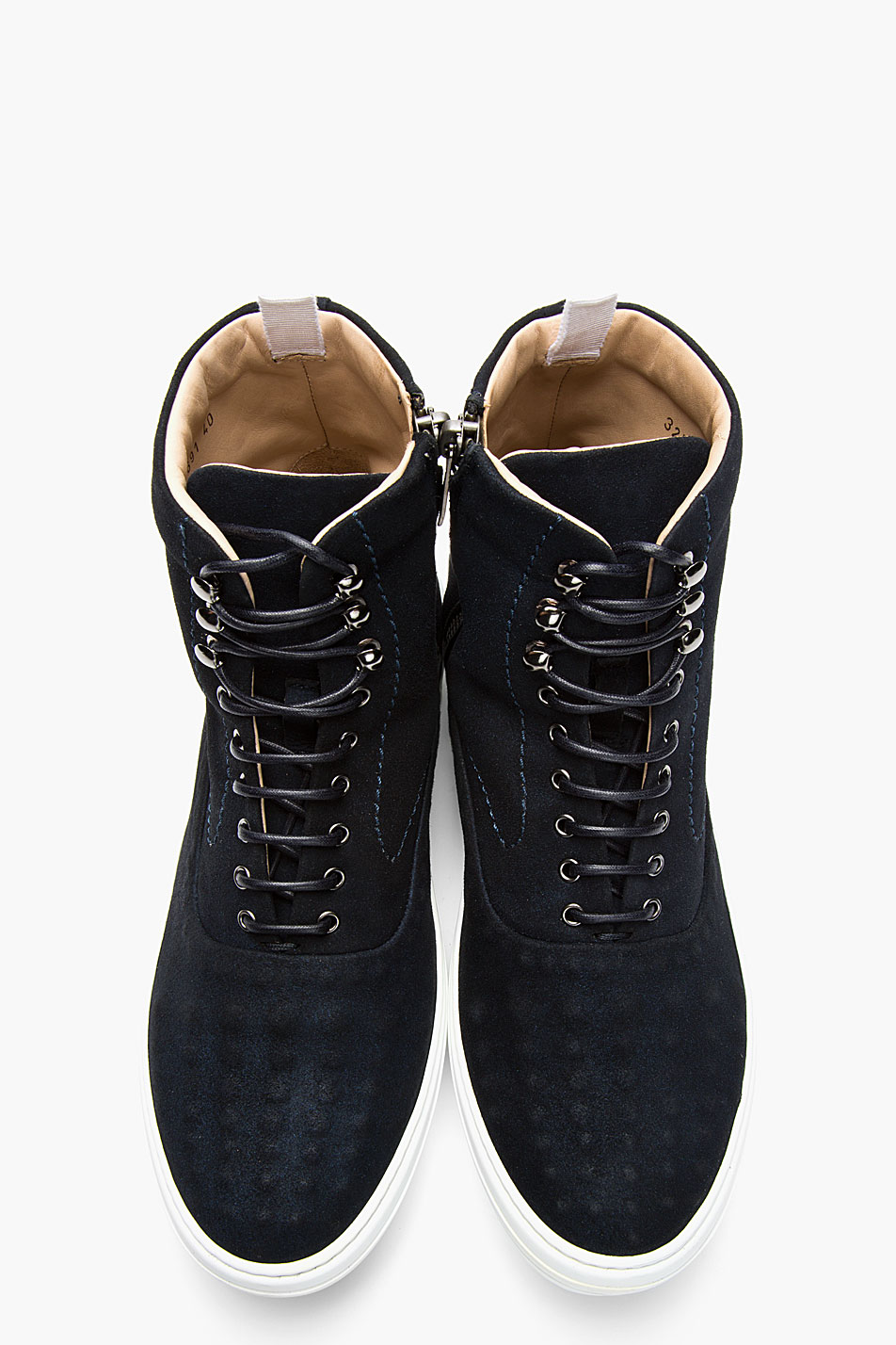 Deep Blue Covered stud sneakers suede Alexander McQueen 1
