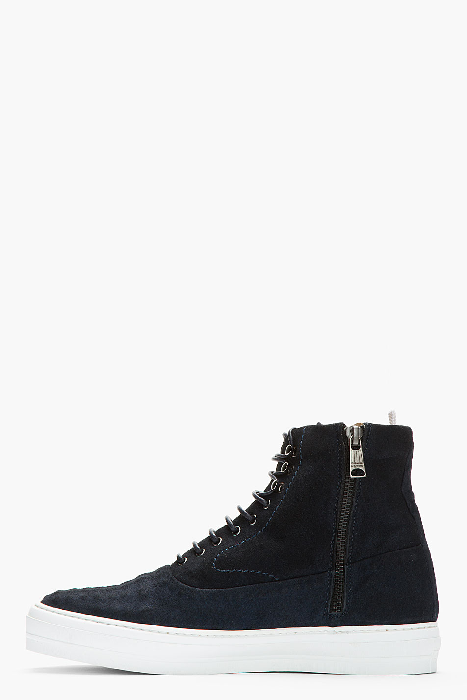 Deep Blue Covered stud sneakers suede Alexander McQueen 2