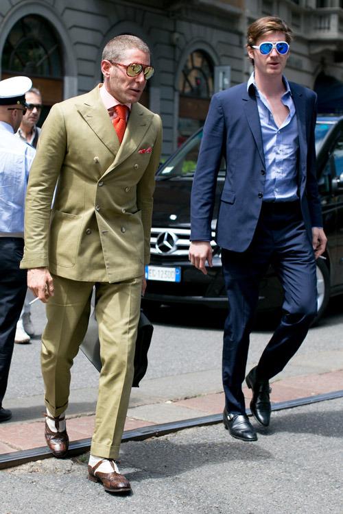 Fancy shades suit style menswear