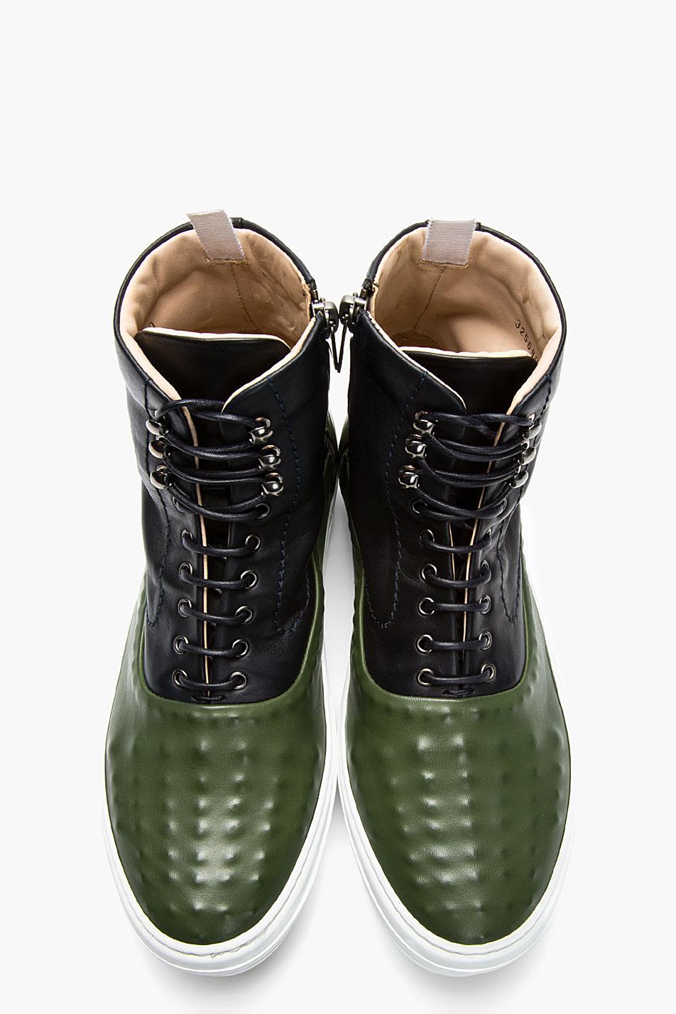 green navy Covered stud sneakers Alexander McQueen 1