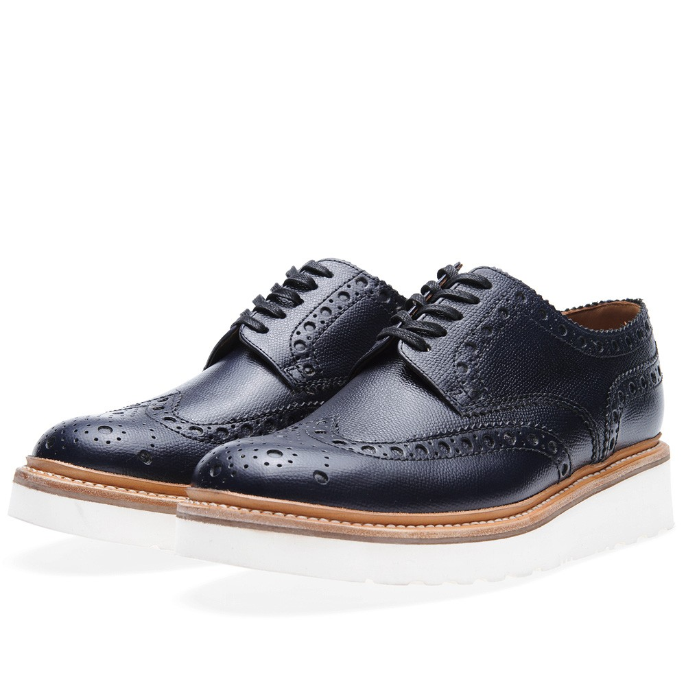 Grenson Archie V Navy in Alpine Grain 1