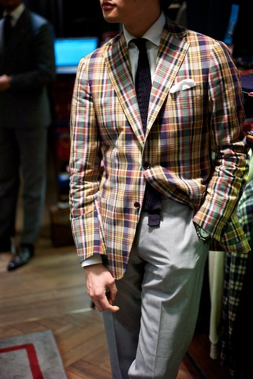 Madras Ring Jacket men's fashion soletopia