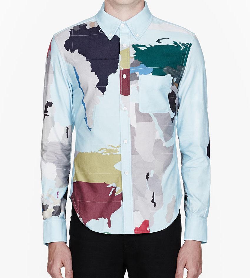 Map of the World Dress Shirt