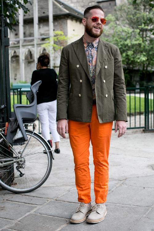 Olive & Orange men's fashion double breasted