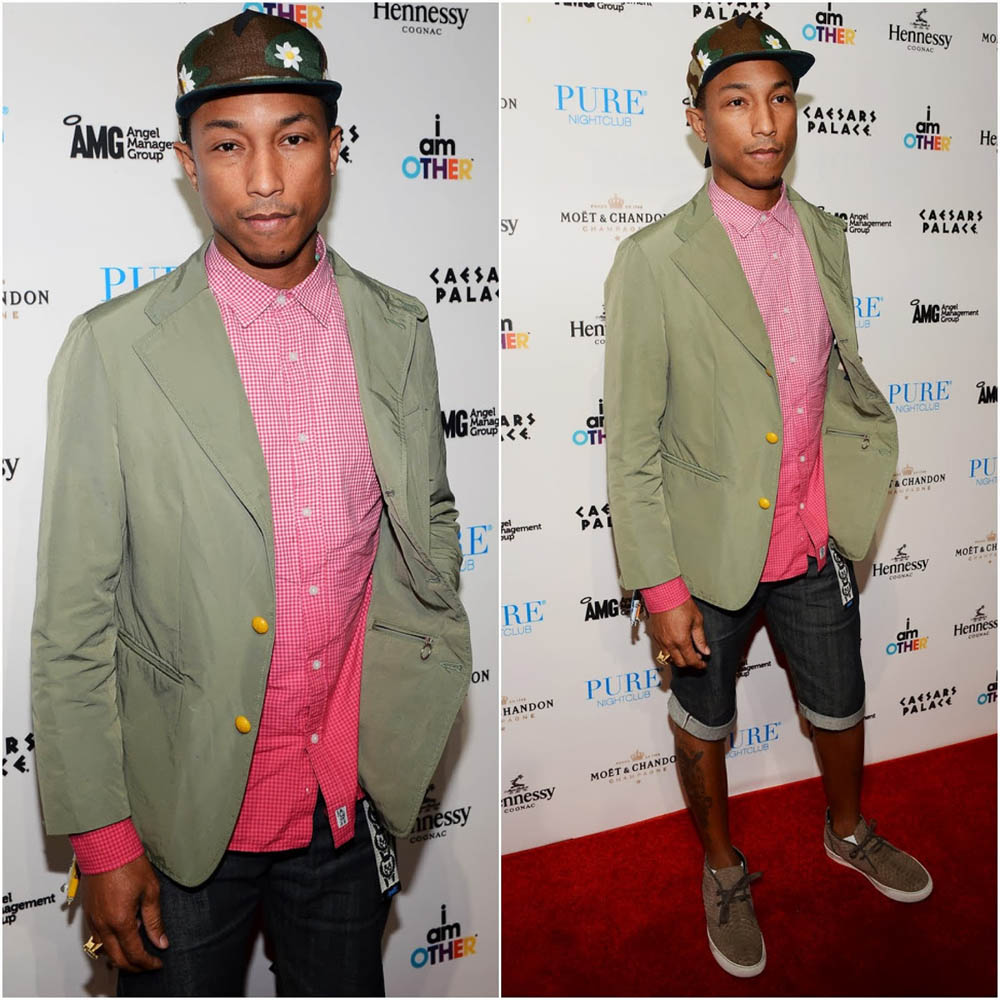 Pharrell Williams wears LANVIN Mate 1
