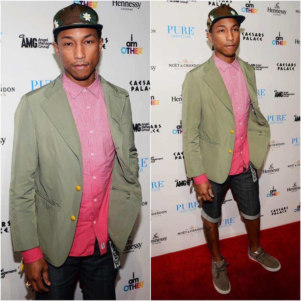 Pharrell Williams wears LANVIN Mate 1