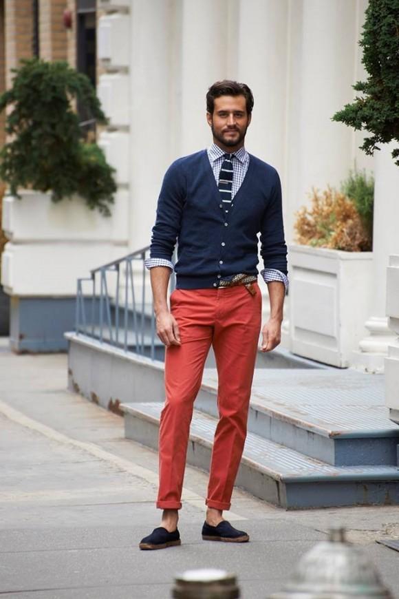 Red & Navy Summer Menswear Look