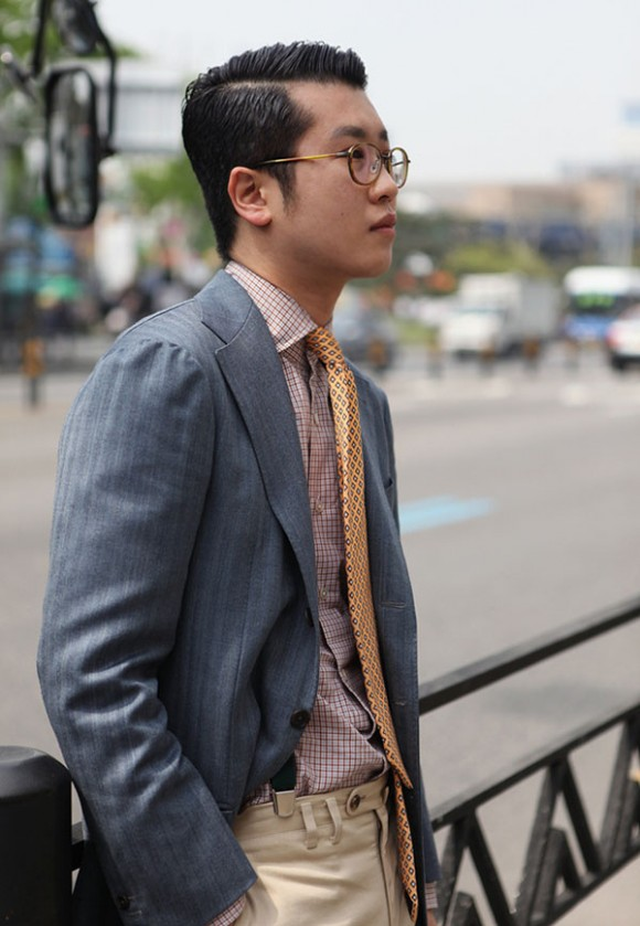 Separate preppy asian man
