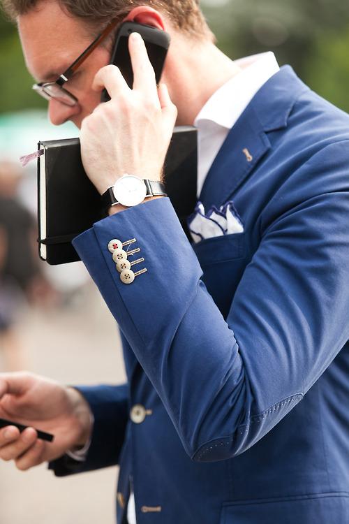 Stylish Businessman on the Phone