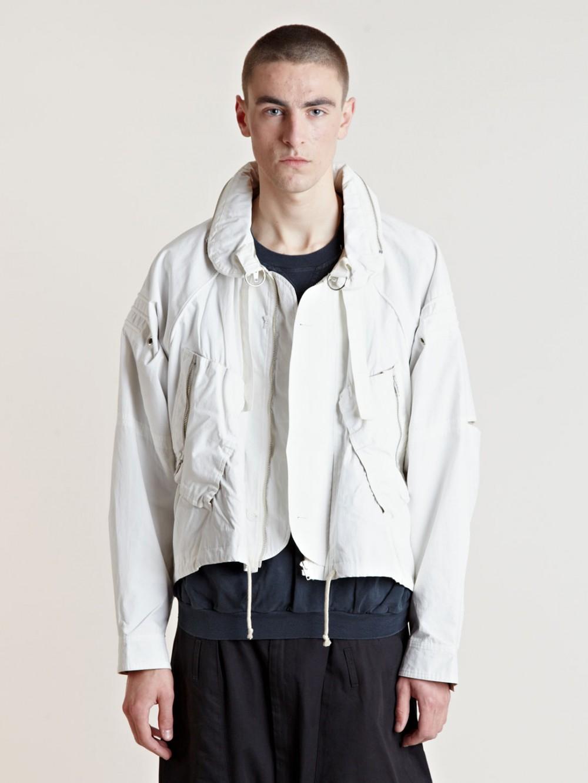 White Raglan Jacket Raf Simons SS06