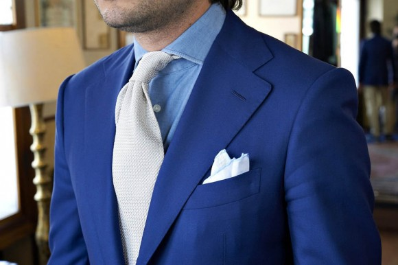 Zaremba Bespoke Blue Suit & Tie