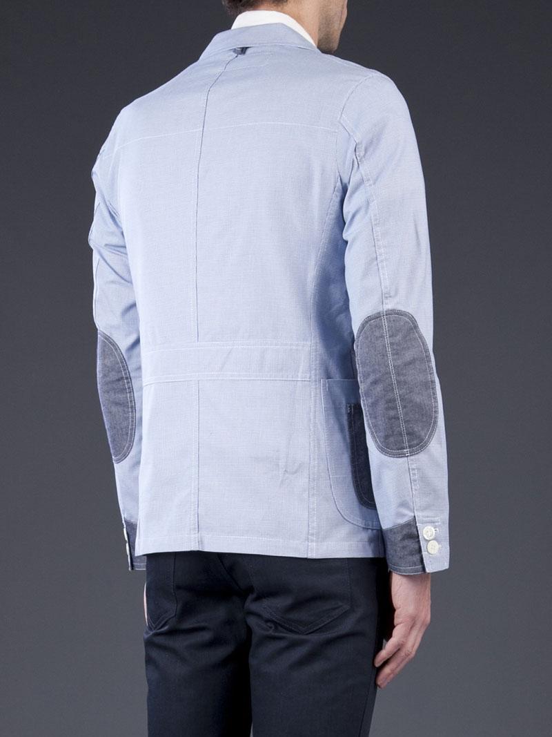 Blue Woven Jacket Junya Watanabe 1