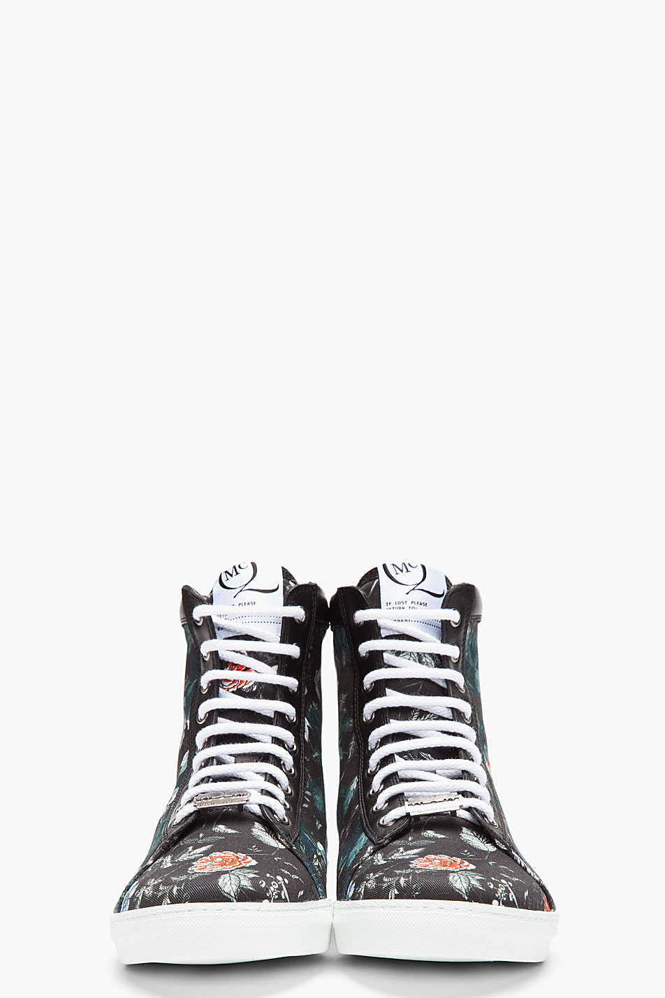 Floral Canvas Sneakers MCQ by Alexander McQueen 2