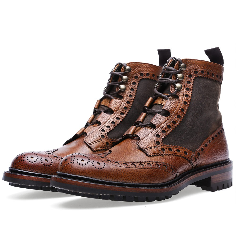 Rushton Brogue Boot Barbour x Joseph Cheaney & Sons 1