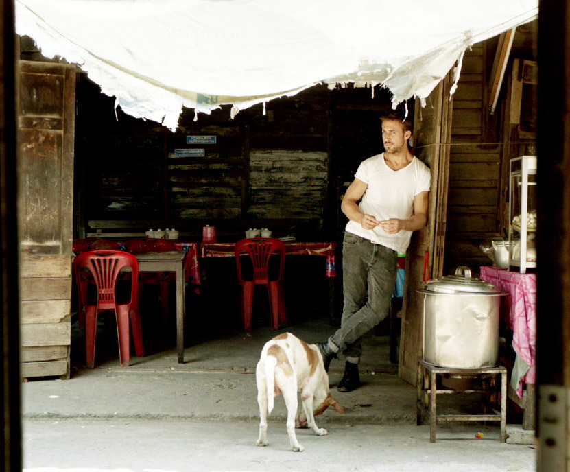 Ryan Gosling Only God Forgives Style 1 white tee jeans