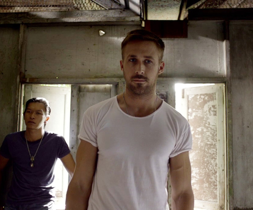 Ryan Gosling Only God Forgives Style 2 white tshirt chain