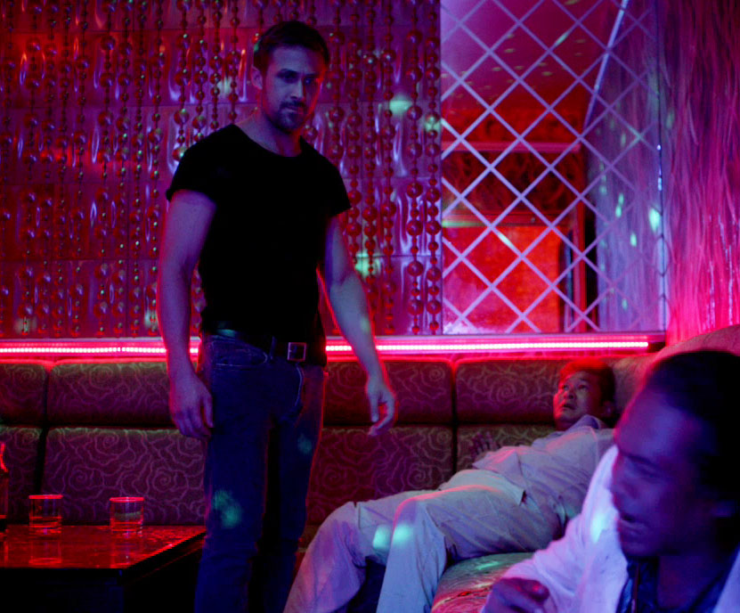 Ryan Gosling Only God Forgives Style 3 black shirt, grey jeans