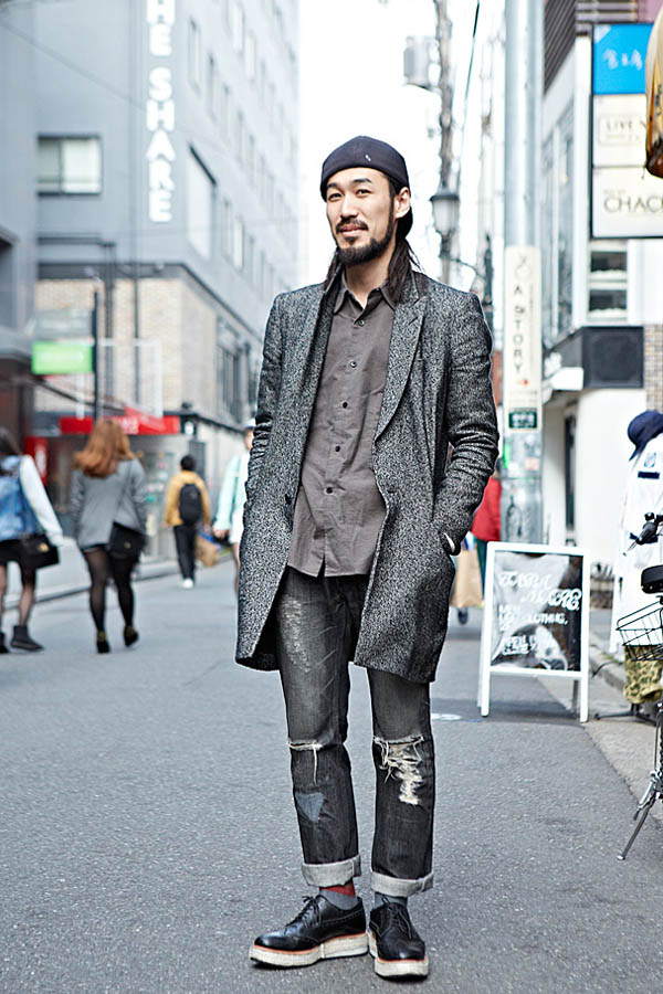 Tokyo Style men`s fashion thick sole