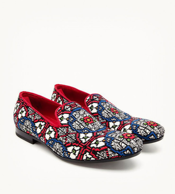 Woven Jacquard Dress Slippers Alexander McQueen