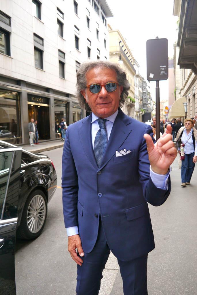 Blue Suit Italian Style old man