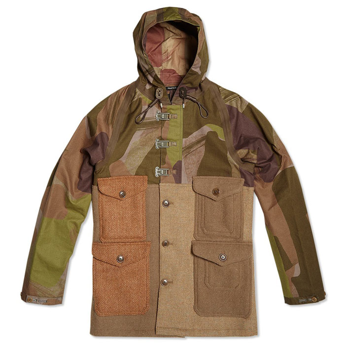 Crazy Cameraman Jacket Harris Tweed Camo nigel cabourn 1