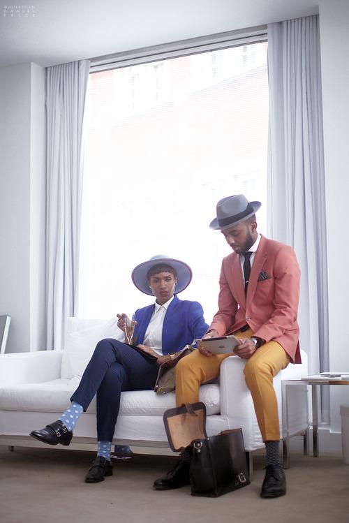 Fashion Fresh Pair black couple style