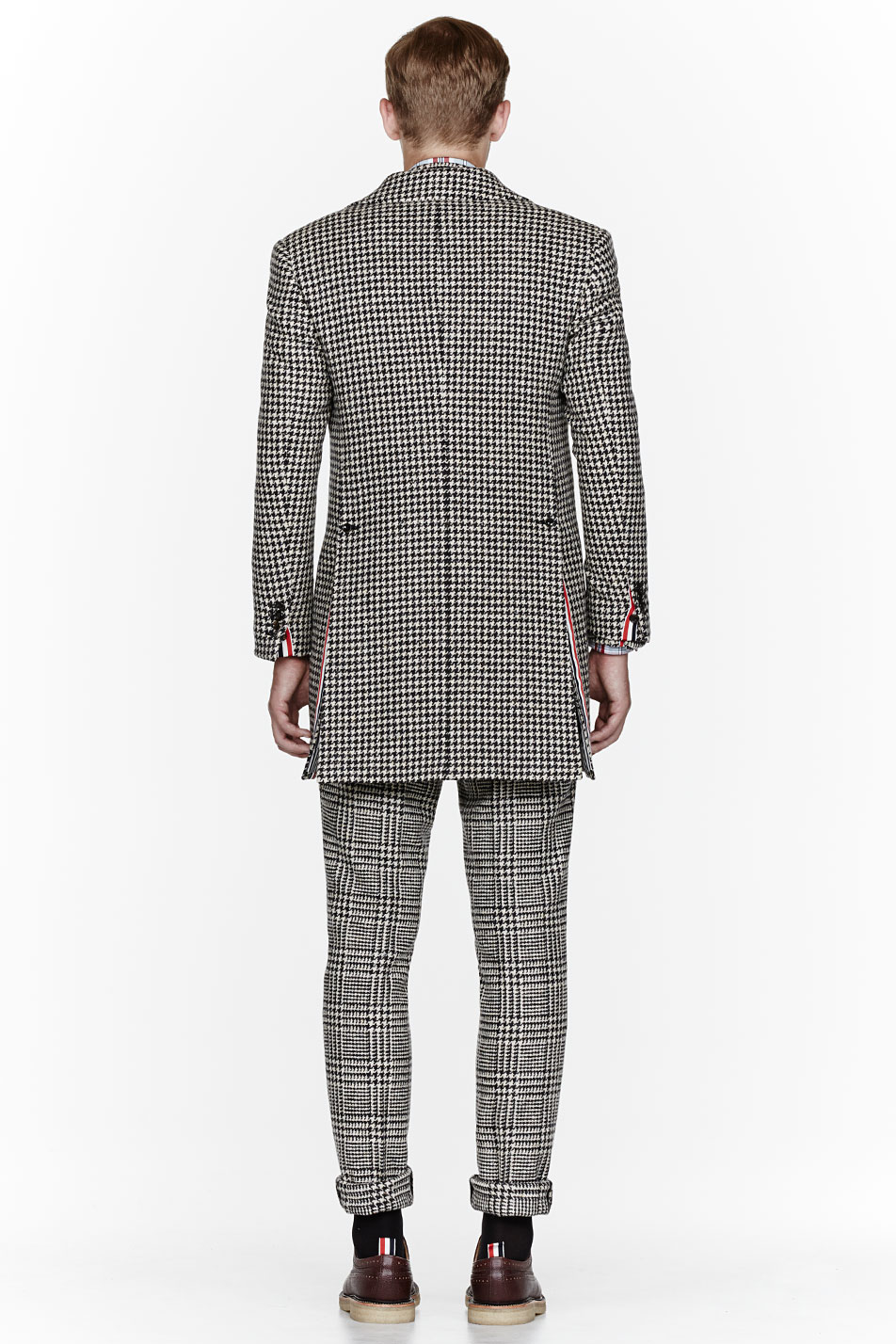 Glen Plaid Suit x Herringbone Coat Thom Browne 3