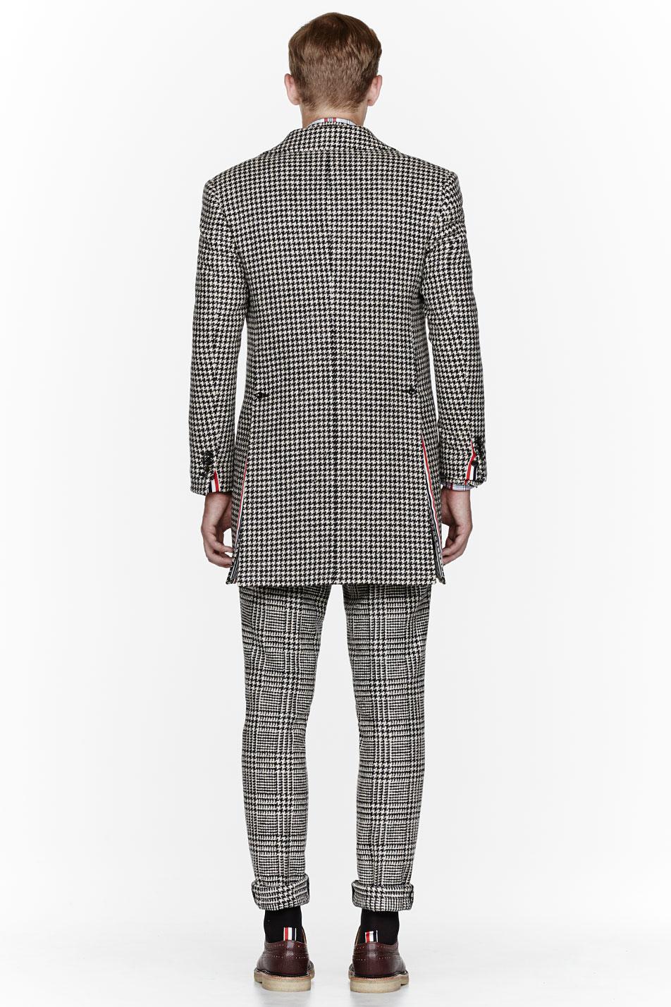 Glen Plaid Suit x Herringbone Coat Thom Browne 3