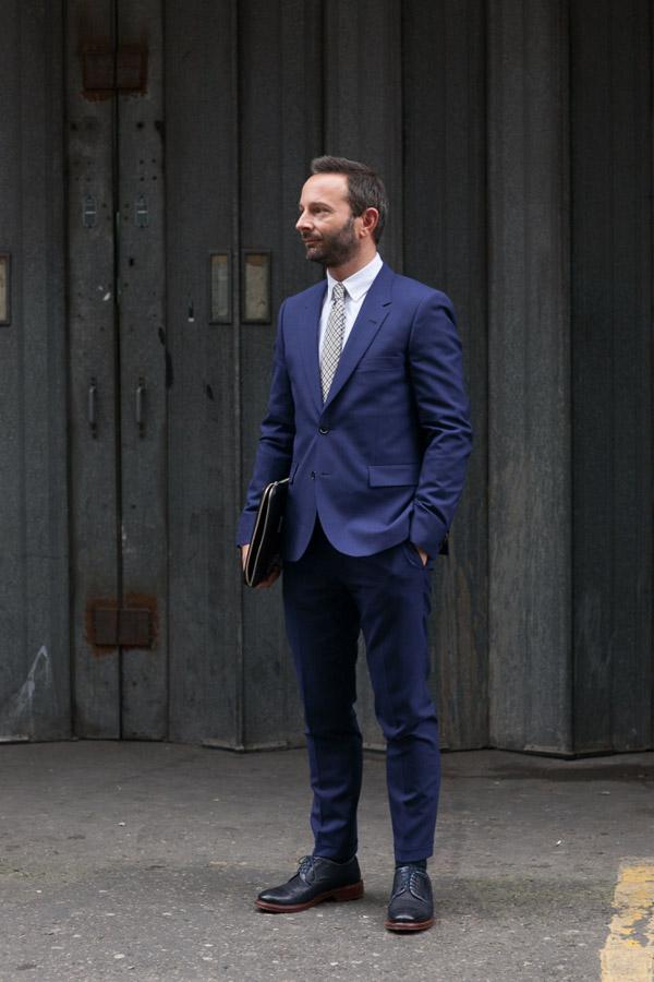 Navy All Around suit menswear fashion blog