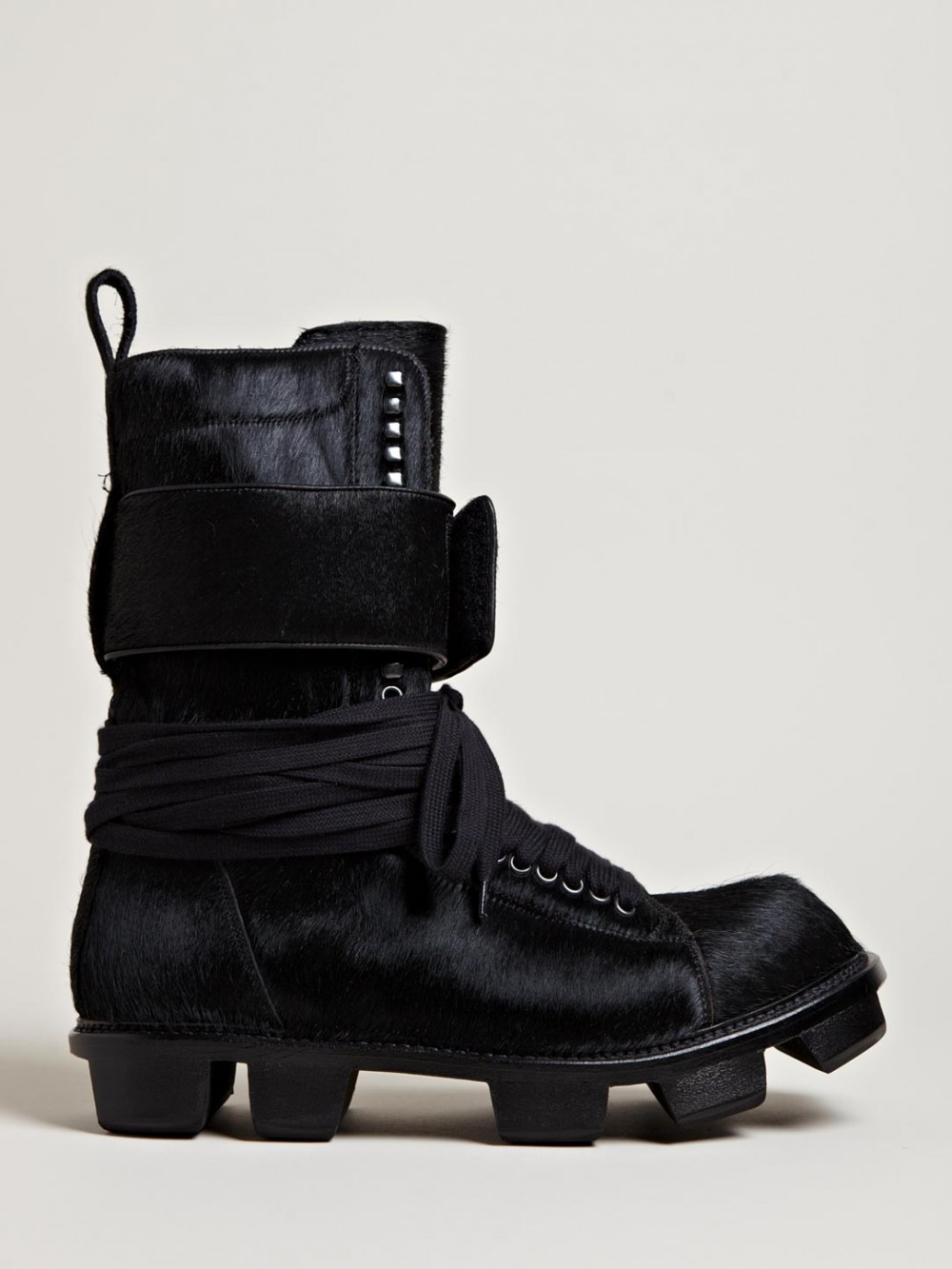 Pony Skin Plinth Boot Rick Owens 1