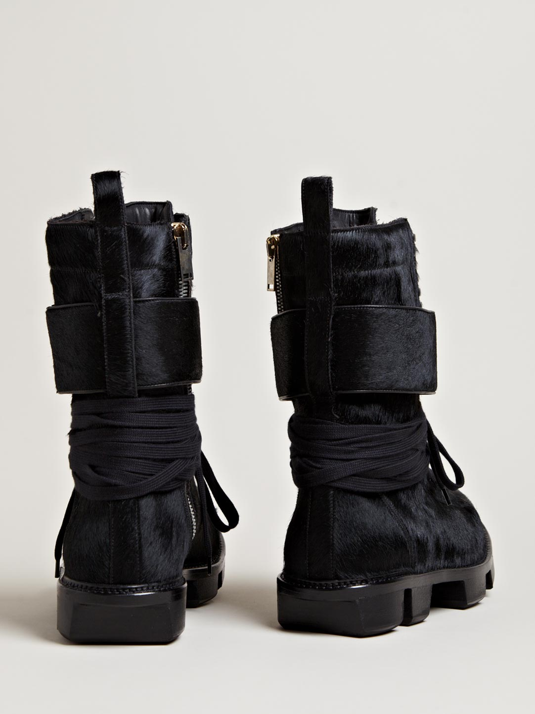 Pony Skin Plinth Boot Rick Owens 3