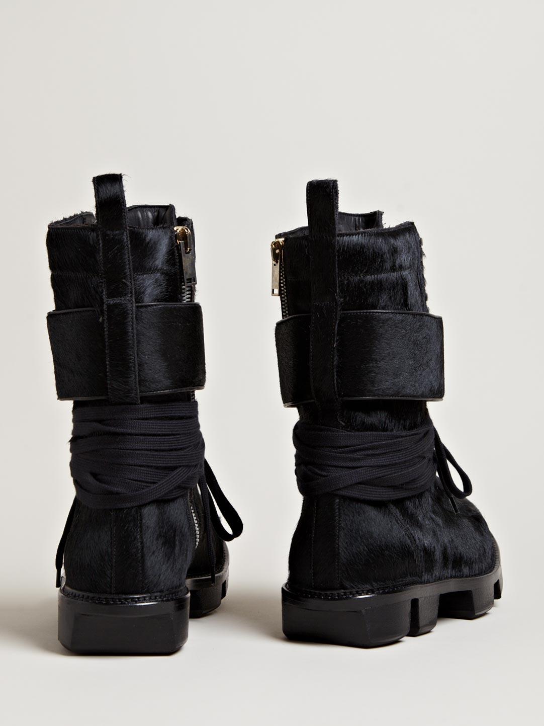 Pony Skin Plinth Boot Rick Owens 3