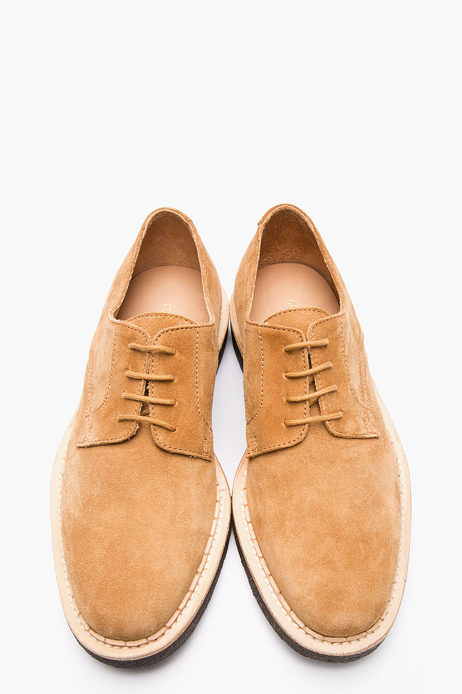 Tan Suede Derbys Common Projects best men's shoes