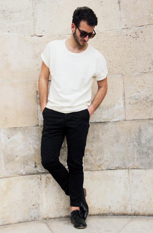 White tee x black pants soletopia for White shirt black pants