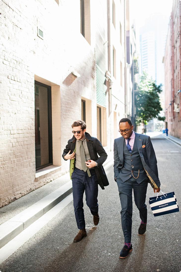 Christian & Maleik streetstyle menswear walking