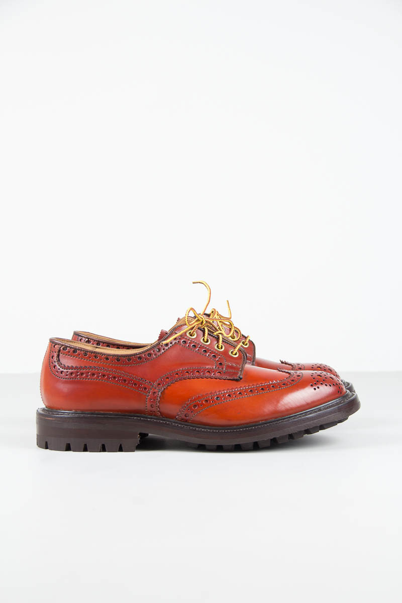 Commando Orange Cordovan Keswick Brogue tricker's menswear