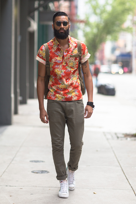 more photos 91036 8617f Floral Pop Over x Vintage NIke streetstyle menswear fashion