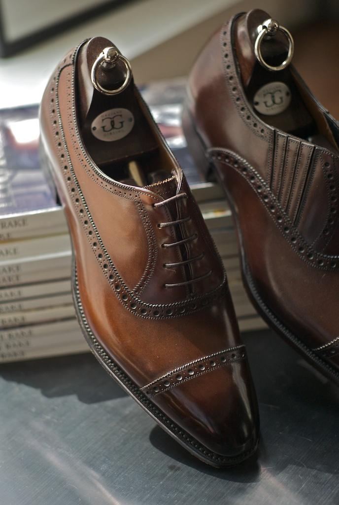 Gorgeous Brown Leather Shoes menswear fashion GG