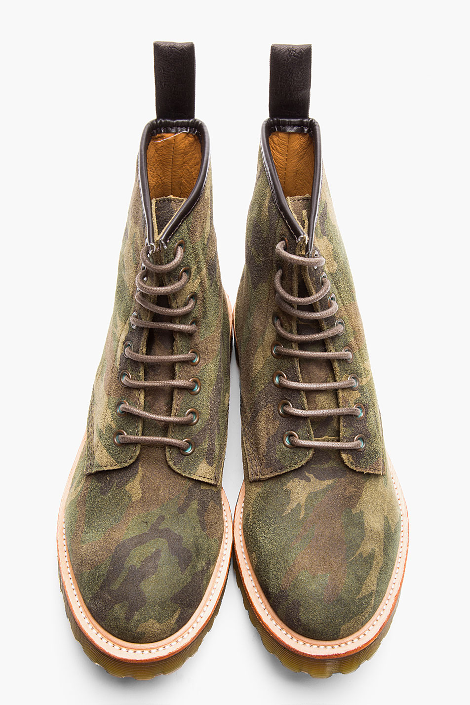 Green Camo 1460 8-eye boot Dr. Martens Rugged suede men style 1