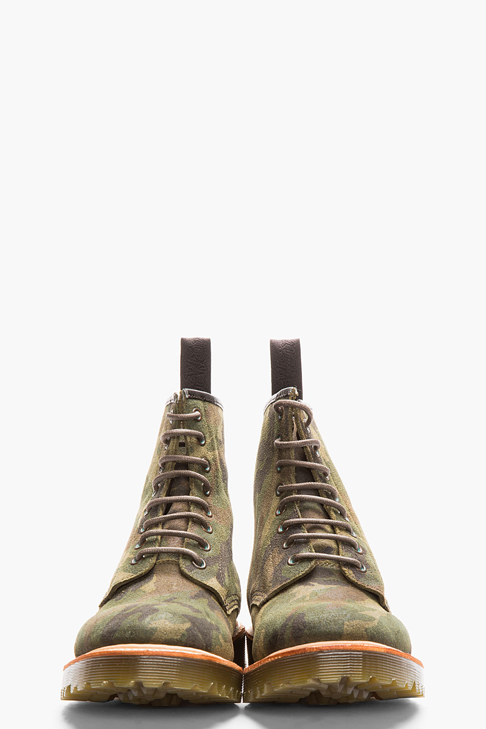 Green Camo 1460 8-eye boot Dr. Martens Rugged suede men style 2