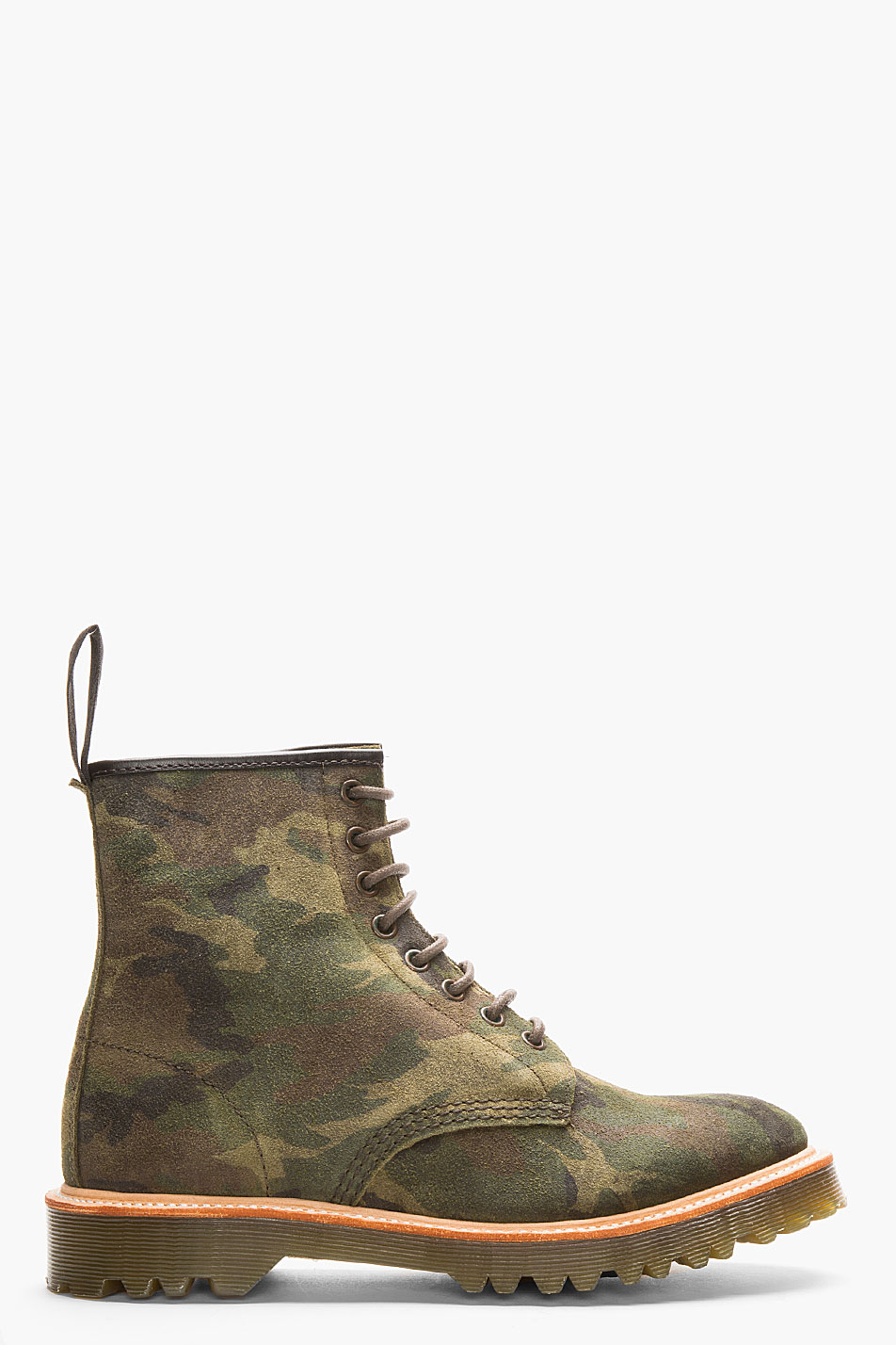 Green Camo 1460 8-eye boot Dr. Martens Rugged suede men style 4