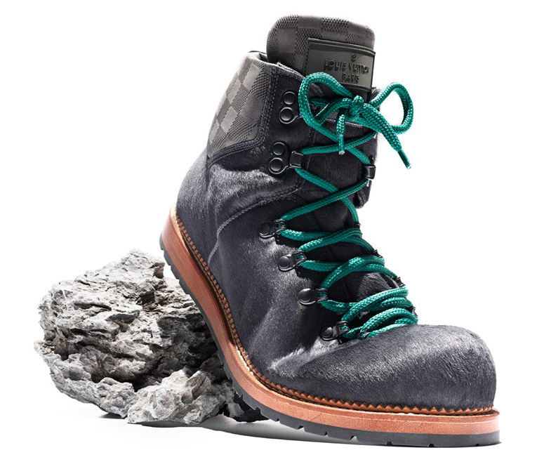 Grey Pony Hair Hiking Boots Louis Vuitton