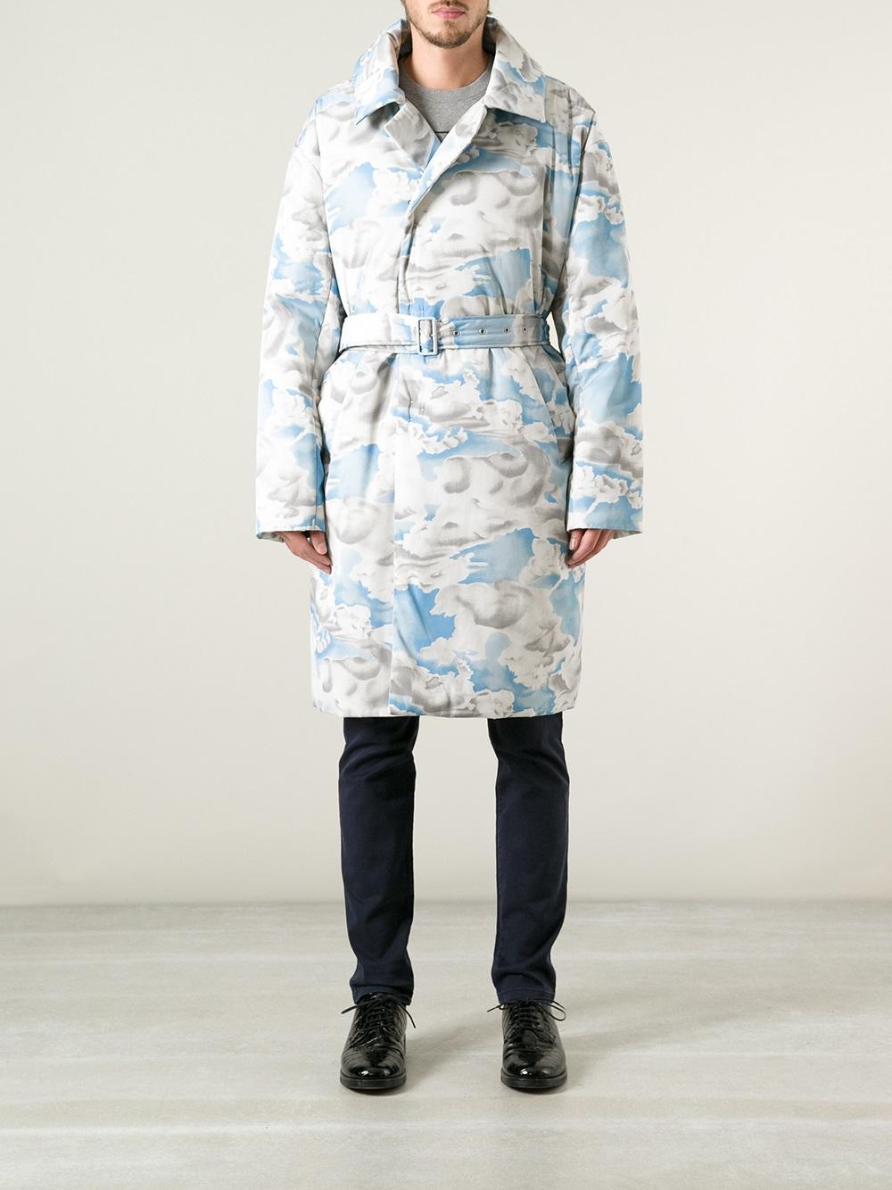Kenzo Cloud Coat belted menswear fashion lookbook