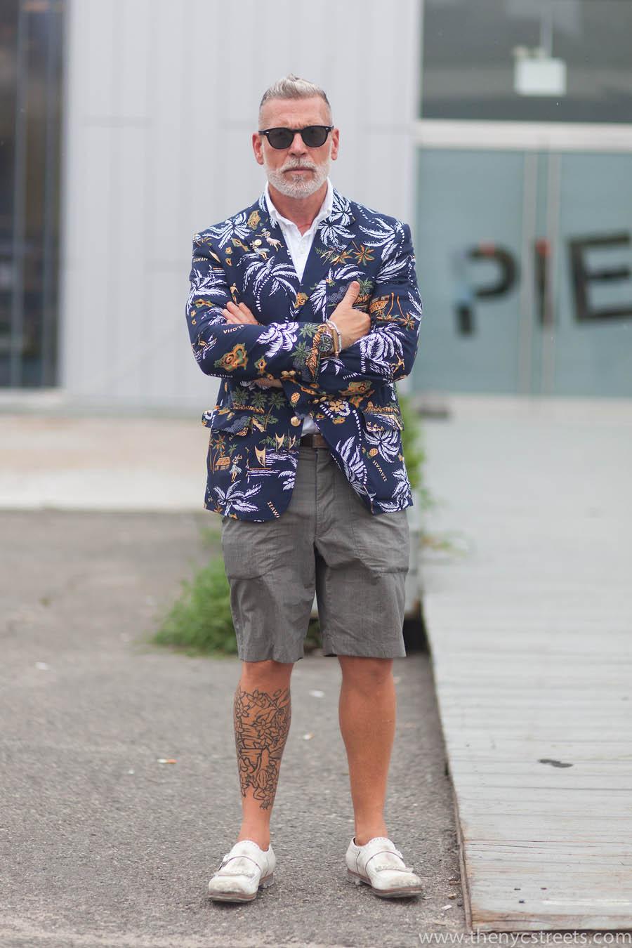Nick Wooster at Capsule Hawaii Print Jacket 1