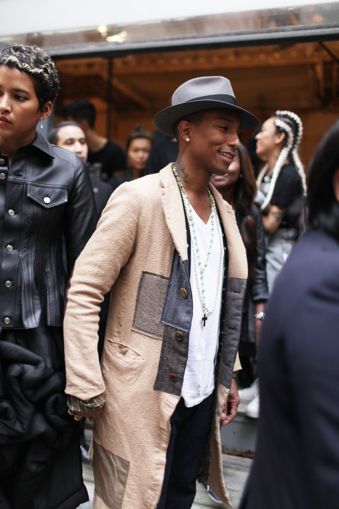 Pharrell Williams at Paris Fashion Week street style