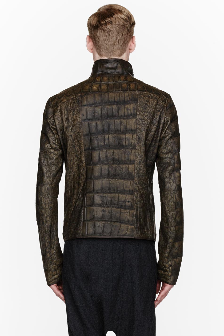 Rick Owens $50,000 leather jacket alligator menswear lookbook 2