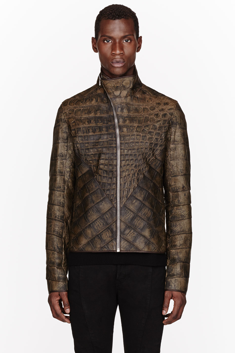 Rick Owens $50,000 leather jacket alligator menswear lookbook 3